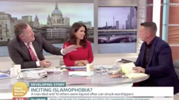 Piers Morgan and Tommy Robinson went head to head on GMB