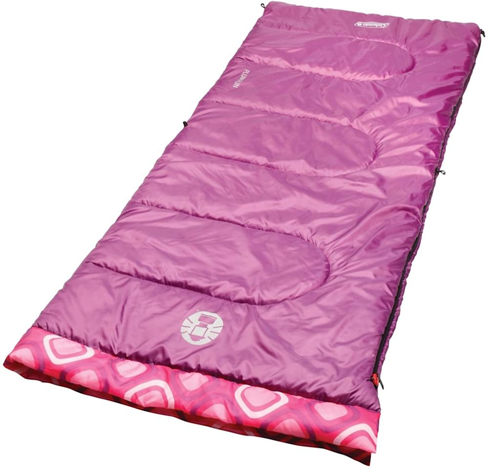 "<p>This <a href=""https://www.popsugar.com/buy/Coleman-Youth-Sleeping-Bag-574561?p_name=Coleman%20Youth%20Sleeping%20Bag&retailer=amazon.com&pid=574561&price=19&evar1=moms%3Aus&evar9=47479532&evar98=https%3A%2F%2Fwww.popsugar.com%2Fphoto-gallery%2F47479532%2Fimage%2F47479541%2FColeman-Youth-Sleeping-Bag&list1=camping%2Ckid%20activities%2Ckid%20shopping%2Cparent%20shopping%2Cstaying%20home&prop13=api&pdata=1"" rel=""nofollow"" data-shoppable-link=""1"" target=""_blank"" class=""ga-track"" data-ga-category=""Related"" data-ga-label=""https://www.amazon.com/dp/B00FGPUYD2/ref=cm_sw_r_tw_dp_U_x_11bWEb023RNN0"" data-ga-action=""In-Line Links"">Coleman Youth Sleeping Bag</a> ($19 and up) comes in three colors and is made to accommodate kids up to 5'5"" tall. It will keep them warm and cozy in the backyard and even packs up into an included carry bag so they can bring it to their <a href=""https://www.popsugar.com/family/How-Throw-Sleepover-Birthday-Party-44777920"" class=""ga-track"" data-ga-category=""Related"" data-ga-label=""https://www.popsugar.com/family/How-Throw-Sleepover-Birthday-Party-44777920"" data-ga-action=""In-Line Links"">next sleepover</a>.</p>"
