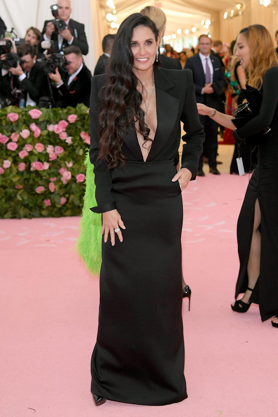 NEW YORK, NEW YORK - MAY 06: Demi Moore attends The 2019 Met Gala Celebrating Camp: Notes on Fashion at Metropolitan Museum of Art on May 06, 2019 in New York City. (Photo by Neilson Barnard/Getty Images)
