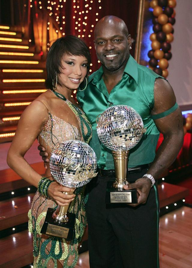 <p>Emmitt Smith's quick feet led him to a successful stint on <em>DWTS</em>. The all-time leading rusher was paired with Cheryl, who won back-to-back seasons. Emmitt is still a fan favorite.</p>