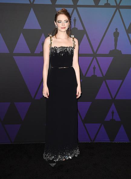 <p>Emma wore a Louis Vuitton gown at the Academy of Motion Picture Arts and Sciences' 10th annual Governors Awards at The Ray Dolby Ballroom at Hollywood & Highland Center in Hollywood, California. <em>[Photo: Getty]</em> </p>