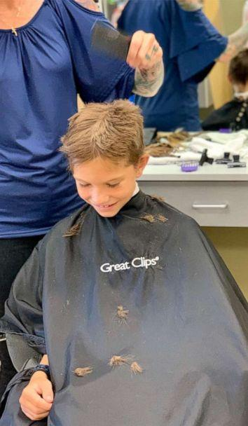 PHOTO: Brodie Southgate, 9, chopped 15 inches of his own hair and gave it to gave it to charity. (Courtesy Ben Southgate)