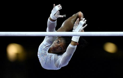 Biles eased to her fifth all-around world title