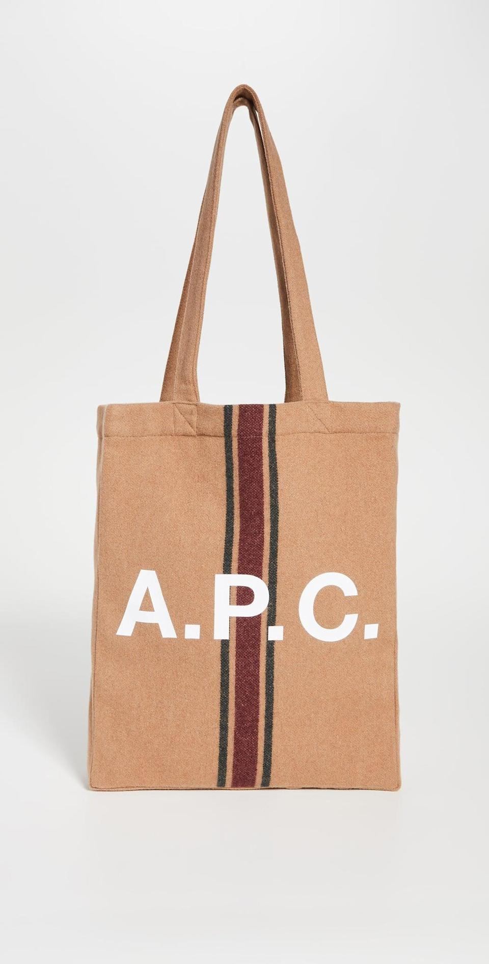 <p>Whether you're running to get coffee with friends or planning a short weekend getaway, this <span>A.P.C. Tote Lou</span> ($155) will carry all your daily essentials. </p>