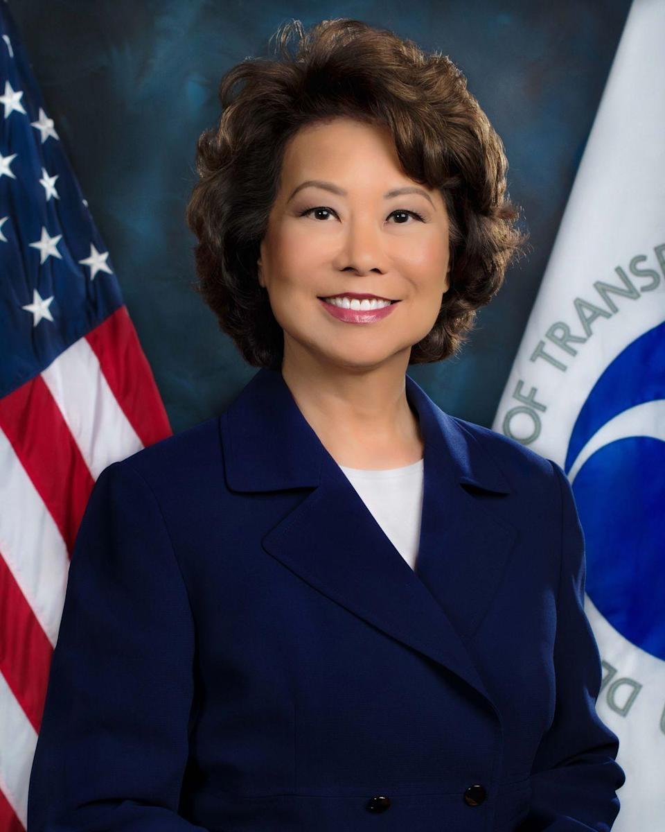 """<p>At Harvard, she was the <a href=""""http://www.mountholyokenews.com/news/2016/12/9/elaine-chao-75-named-transportation-secretary"""" rel=""""nofollow noopener"""" target=""""_blank"""" data-ylk=""""slk:first woman elected a class officer and class marshal"""" class=""""link rapid-noclick-resp"""">first woman elected a class officer and class marshal</a>. Afterward, she worked for Bank of America and Citicorp and was selected as one of 12 White House fellows during the Reagan administration.</p>"""