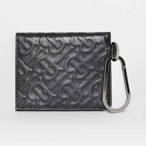 Burberry Monogram Embossed Leather Trifold Wallet - Credit: Burberry