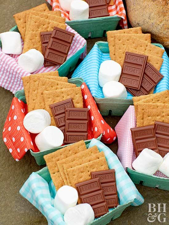 smores, treat boxes, chocolate, marshmallows,