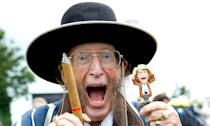 Outspoken horse racing pundit John McCririck died on 5 July after suffering from lung cancer. He had worked on BBC's <em>Grandstand</em>, ITV Sports, as well as Channel 4 Racing. Outside of his commentating career, McCririck also had a memorable appearance in <em>Celebrity Big Brother</em> in 2005. (Photo by Michael Cole/Corbis via Getty Images)