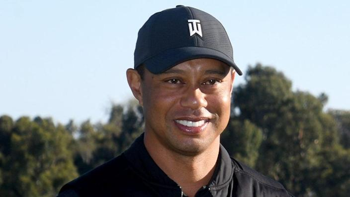 Two days before his February car crash, golf legend Tiger Woods is shown after the final round of the Genesis Invitational at Riviera Country Club in Pacific Palisades. (Photo by Harry How/Getty Images)