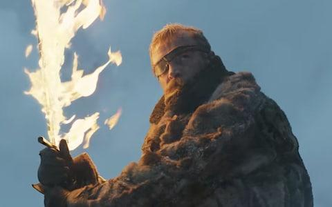 Beric wielding the Lightbringer