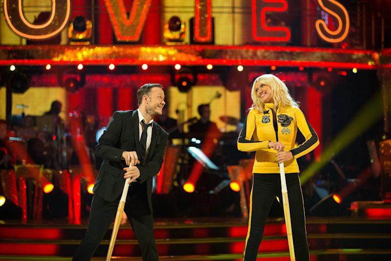 Anneka and Kevin were voted off after their Movie Week performance (Photo: BBC)