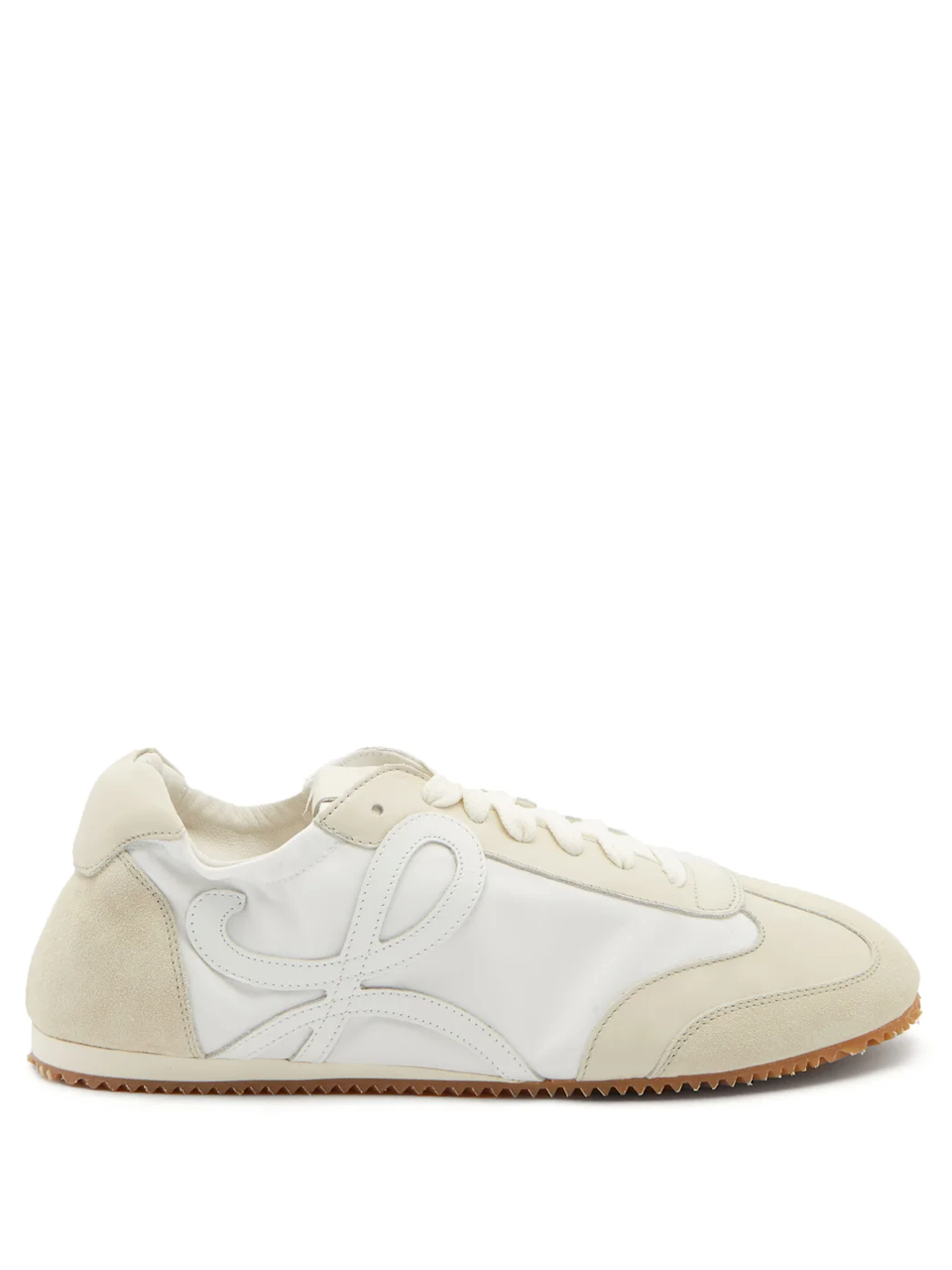 """<br><br><strong>Loewe</strong> Ballet Runner Leather And Suede Trainers, $, available at <a href=""""https://go.skimresources.com/?id=30283X879131&url=https%3A%2F%2Fwww.matchesfashion.com%2Fus%2Fproducts%2FLoewe-Ballet-Runner-leather-and-suede-trainers%2509-1359029"""" rel=""""nofollow noopener"""" target=""""_blank"""" data-ylk=""""slk:Matches Fashion"""" class=""""link rapid-noclick-resp"""">Matches Fashion</a>"""