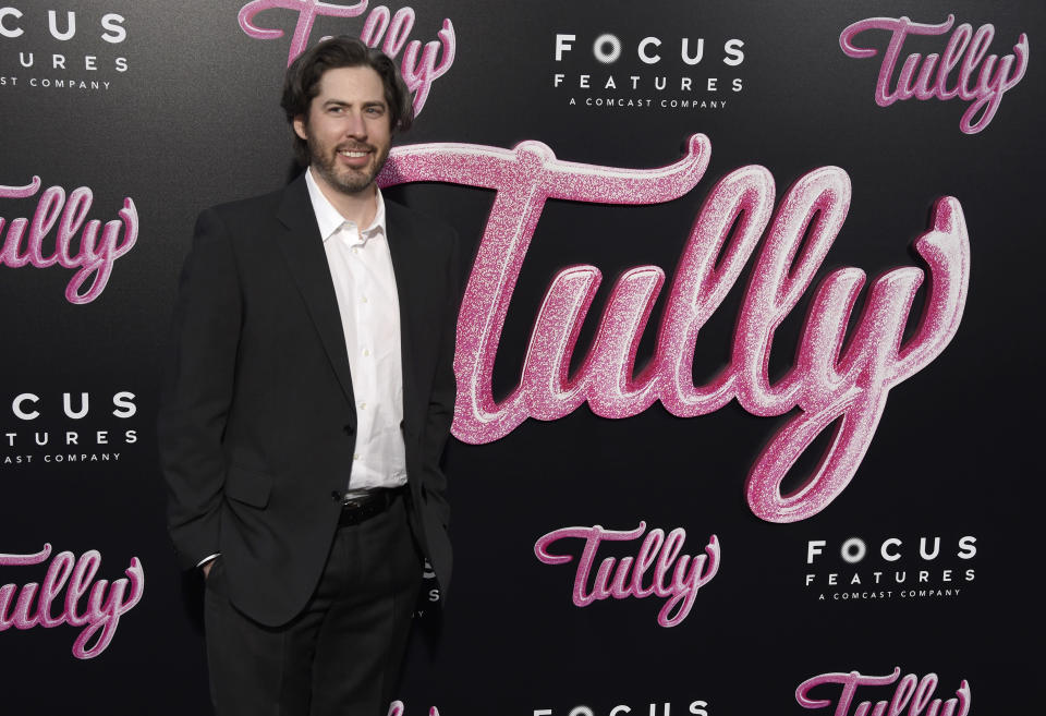 """Director Jason Reitman arrives at the Los Angeles premiere of """"Tully"""" at Regal Cinemas L.A. Live on Wednesday, April 18, 2018. (Photo by Chris Pizzello/Invision/AP)"""