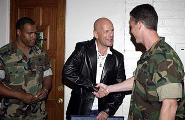 """Premiere: <a href=""""/movie/contributor/1800018749"""">Bruce Willis</a> with actual Navy SEALS at the LA premiere of Columbia's <a href=""""/movie/1808405048/info"""">Tears of the Sun</a> - 3/3/2003<br>Photo: <a href=""""http://www.wireimage.com"""">Lester Cohen, Wireimage.com</a>"""