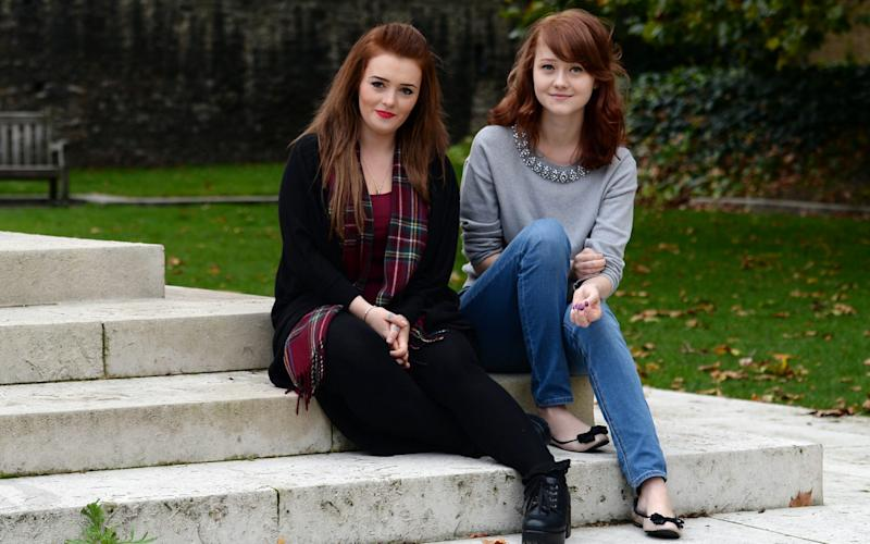 Victims of 'revenge porn', Hazel Higgleton and Hannah Thompson campaigned for a change in the law - Credit: Stefan Rousseau/PA
