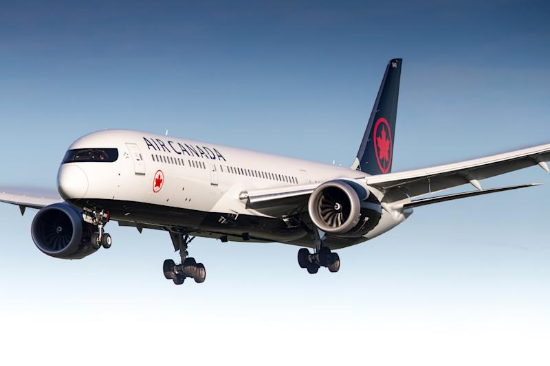 A Boeing 787 Dreamliner of Air Canada