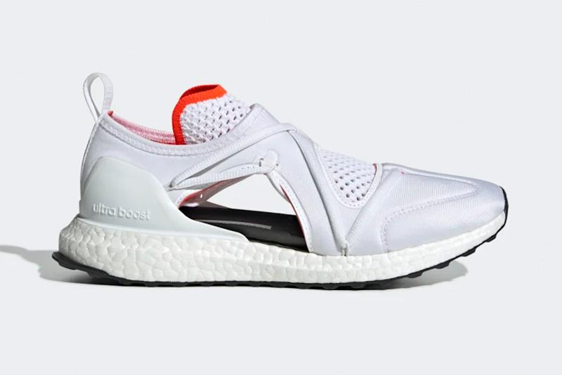 sneakers, red, white, gray, adidas