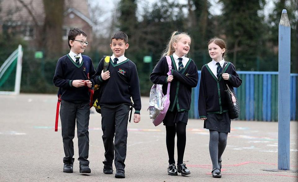 Pupils in England are returning to school for the first time in two months as part of the first stage of lockdown easing (PA) (PA Wire)