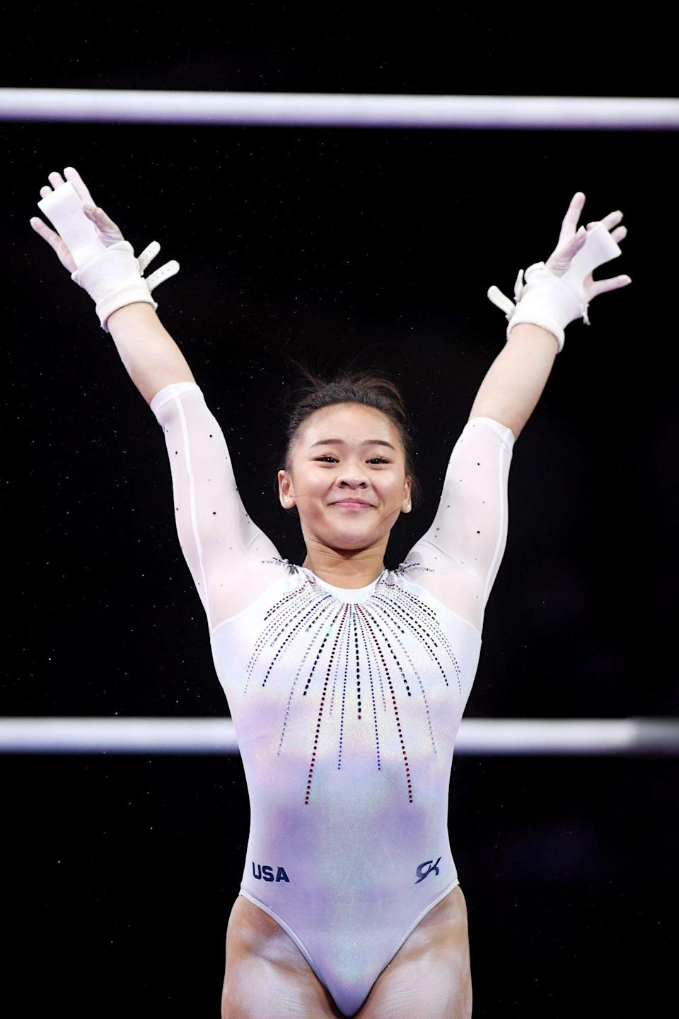 """<p>Team USA's <a href=""""https://people.com/sports/tokyo-olympics-sunisa-lee-first-hmong-american-olympic-gymnast-achieving-her-dream/"""" rel=""""nofollow noopener"""" target=""""_blank"""" data-ylk=""""slk:Sunisa Lee"""" class=""""link rapid-noclick-resp"""">Sunisa Lee</a> makes history the first Hmong American Olympic gymnast, making her debut at the Tokyo Summer Olympics.</p> <p>On July 27, the first-time Olympian <a href=""""https://people.com/sports/tokyo-olympics-simone-biles-suni-lee-jordan-chiles-grace-mccallum-win-team-silver/"""" rel=""""nofollow noopener"""" target=""""_blank"""" data-ylk=""""slk:won silver"""" class=""""link rapid-noclick-resp"""">won silver</a> alongside Simone Biles, Jordan Chiles and Grace McCallum at the women's team gymnastics final July 27.</p> <p>Before the Games began, Lee told <a href=""""https://people.com/sports/tokyo-olympics-sunisa-lee-first-hmong-american-olympic-gymnast-achieving-her-dream/"""" rel=""""nofollow noopener"""" target=""""_blank"""" data-ylk=""""slk:PEOPLE"""" class=""""link rapid-noclick-resp"""">PEOPLE</a> that her title as the first Hmong American Olympic gymnast """"means a lot to the Hmong community ... and to just be an inspiration to other Hmong people [means] a lot to me too.""""</p>"""