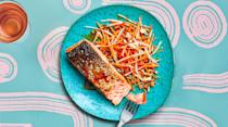 """<a href=""""https://www.bonappetit.com/recipe/skillet-salmon-with-pickle-y-salad?mbid=synd_yahoo_rss"""" rel=""""nofollow noopener"""" target=""""_blank"""" data-ylk=""""slk:See recipe."""" class=""""link rapid-noclick-resp"""">See recipe.</a>"""