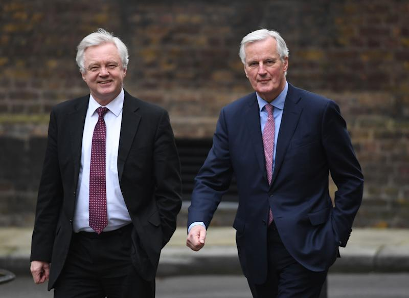 David Davis and EU negotiator Michel Barnier (PA Wire/PA Images)