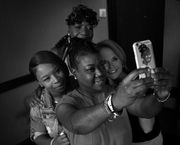 <p>Yahoo News Global Anchor Katie Couric after an interview with Sybrina Fulton, mother of Trayvon Martin, Gwen Carr, mother of Eric Garner, and Lezley McSpadden,mother of Michael Brown, Tuesday, July 26, 2016, in Philadelphia, PA. Later tonight, the mothers will speak on the second night of the Democratic National Convention.<br> (Photo: Khue Bui for Yahoo News) </p>