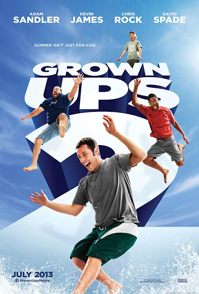 "Adam Sandler, Chris Rock, Kevin James and David Spade star in Columbia Pictures' ""Grown Ups 2"" - 2013"