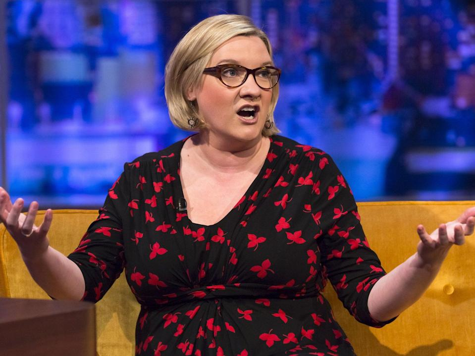 Sarah Millican is a comedian and 'not a model' as she points out in a self-penned response to critics (Getty)