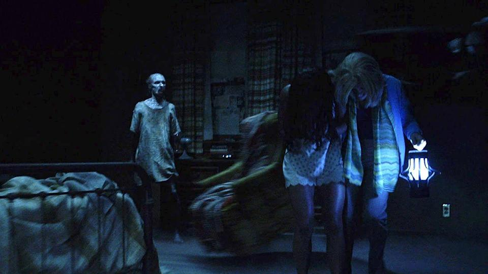 """<p><strong><em>Insidious: Chapter 3</em></strong></p><p>A team of paranormal investigators is brought in to help a young girl and her father who are being haunted by demonic forces.<br></p><p><a class=""""link rapid-noclick-resp"""" href=""""https://www.amazon.com/Insidious-Chapter-3-Dermot-Mulroney/dp/B00YYTI816/?tag=syn-yahoo-20&ascsubtag=%5Bartid%7C10055.g.29120903%5Bsrc%7Cyahoo-us"""" rel=""""nofollow noopener"""" target=""""_blank"""" data-ylk=""""slk:WATCH NOW"""">WATCH NOW</a></p>"""