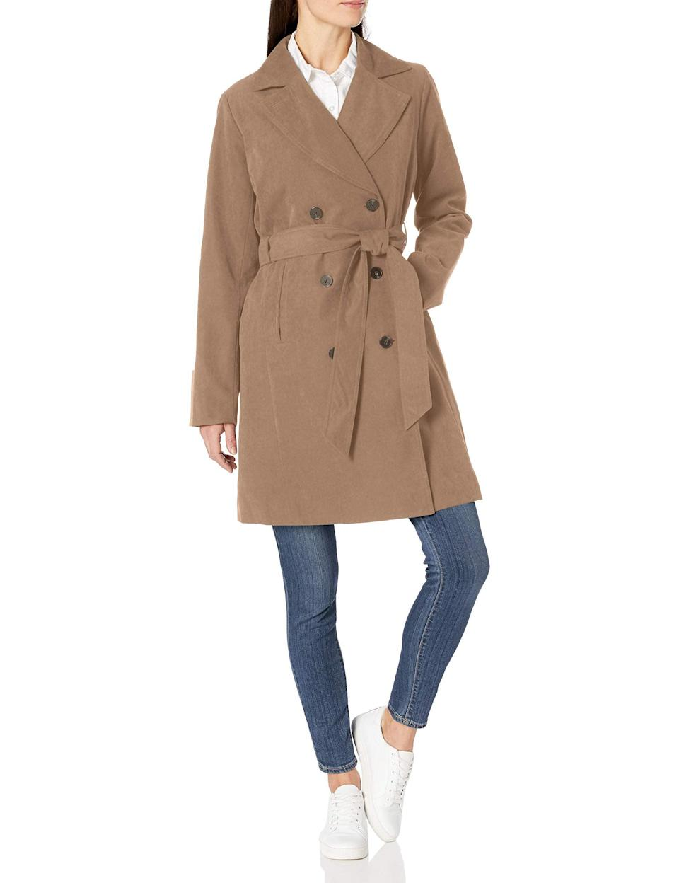"<br><br><strong>Amazon Essentials</strong> Water-Resistant Trench Coat, $, available at <a href=""https://amzn.to/2FpgJf1"" rel=""nofollow noopener"" target=""_blank"" data-ylk=""slk:Amazon Fashion"" class=""link rapid-noclick-resp"">Amazon Fashion</a>"