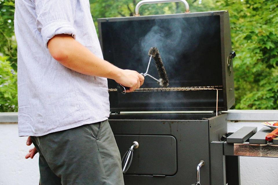 """<p>It probably sounds obvious, but it's easy to put off cleaning your grill grates, which then causes you to forget about it completely - and cleaning them is so important. </p><p>""""Before grilling anything, make sure that the grill grates are well cleaned off,"""" Koetke says. """"This is essential to prevent food from sticking to the grill. You can even use a dampened rag or paper towel to wipe off the grill (before heating the grill) to remove any black specs that can look less than appealing on items like fish or chicken."""" </p>"""