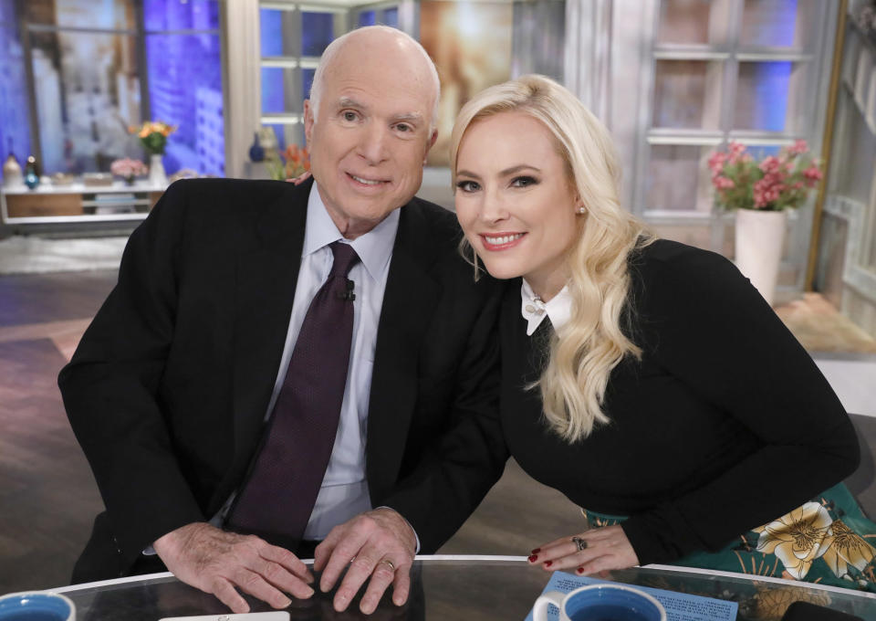 Meghan McCain referenced her late father's experience as a POW in Vietnam. (Photo: Heidi Gutman /ABC via Getty Images)
