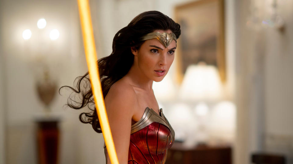 Gal Gadot in 'Wonder Woman 1984'. (Credit: Clay Enos/Warner Bros)