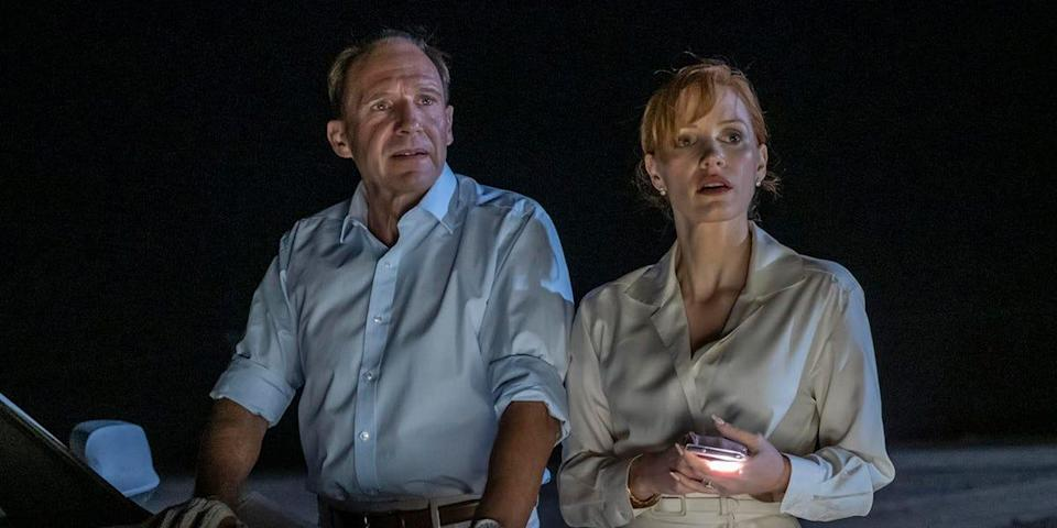 """Ralph Fiennes and Jessica Chastain are a wealthy couple who run into trouble in the Moroccan desert in """"The Forgiven."""""""