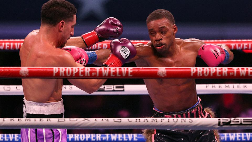Errol Spence Jr, pictured here in action against Danny Garcia in 2020.
