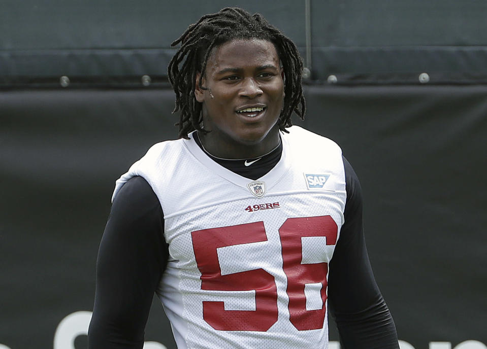 The 49ers traded up to get Reuben Foster, a linebacker from Alabama, late in the 2017 NFL draft. (AP)