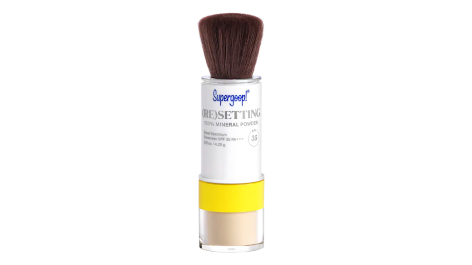 Keep your makeup in place all day—and refresh your SPF—with this (re)setting powder.