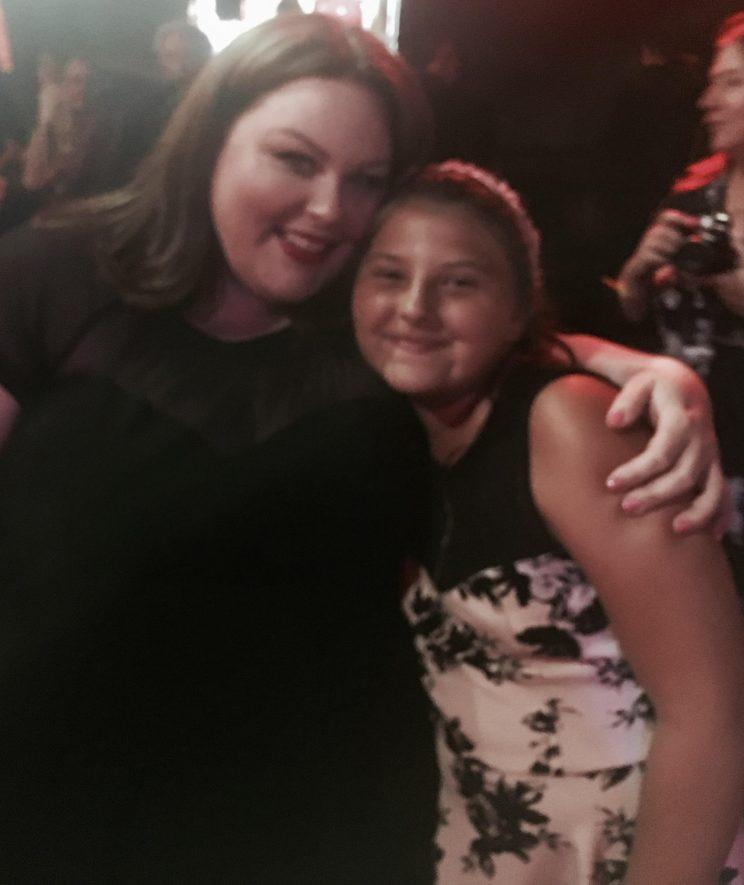 Chrissy Metz and Mackenzie Hancsicsak at the 'This is Us' For Your Consideration Emmys event in LA (Courtesy of Mackenzie Hancsicsak)