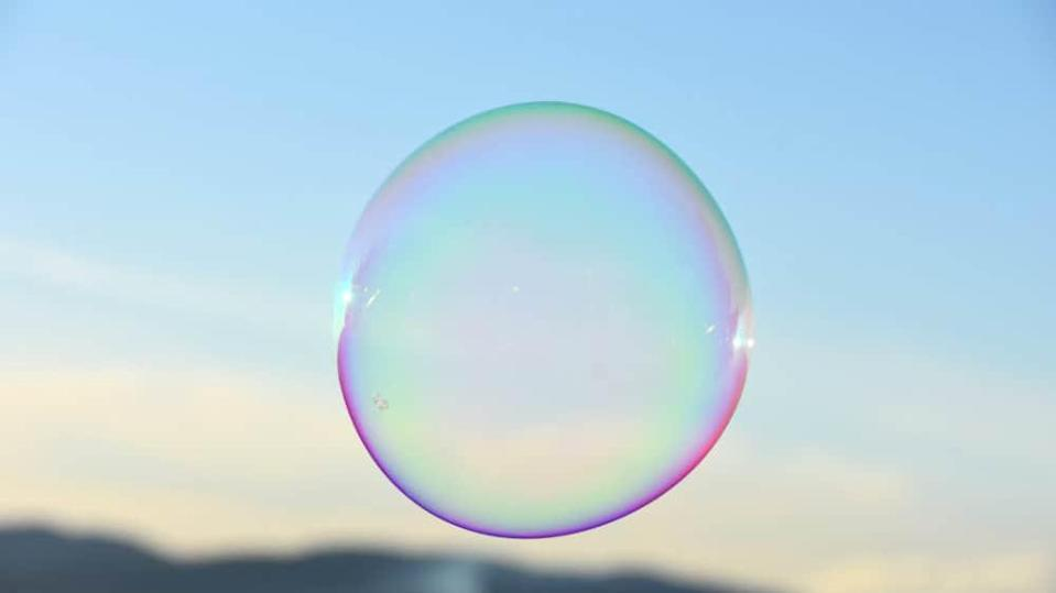 Photo of a floating bubble