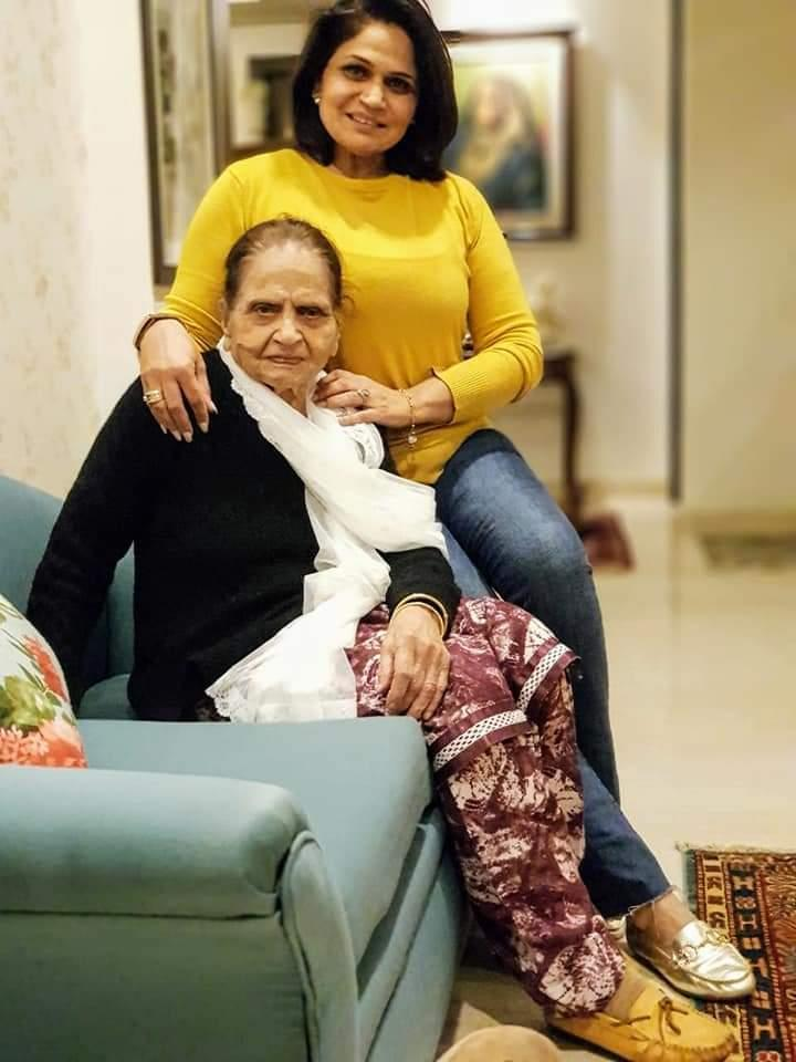 Vimi with her late mother