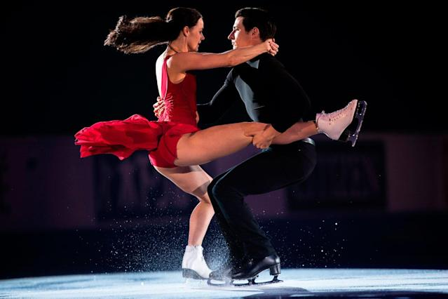 <p>After returning to action in late 2016, the Olympic champion ice dancers dominated in 2017, capped by a world-record score at the Skate Canada International in Regina. (Photo credit: GEOFF ROBINS/AFP/Getty Images) </p>