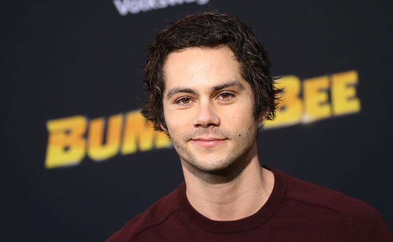"HOLLYWOOD, CALIFORNIA - DECEMBER 09: Dylan O'Brien arrives to the Los Angeles premiere of Paramount Pictures' ""Bumblebee"" held at TCL Chinese Theatre on December 09, 2018 in Hollywood, California. (Photo by Michael Tran/FilmMagic)"