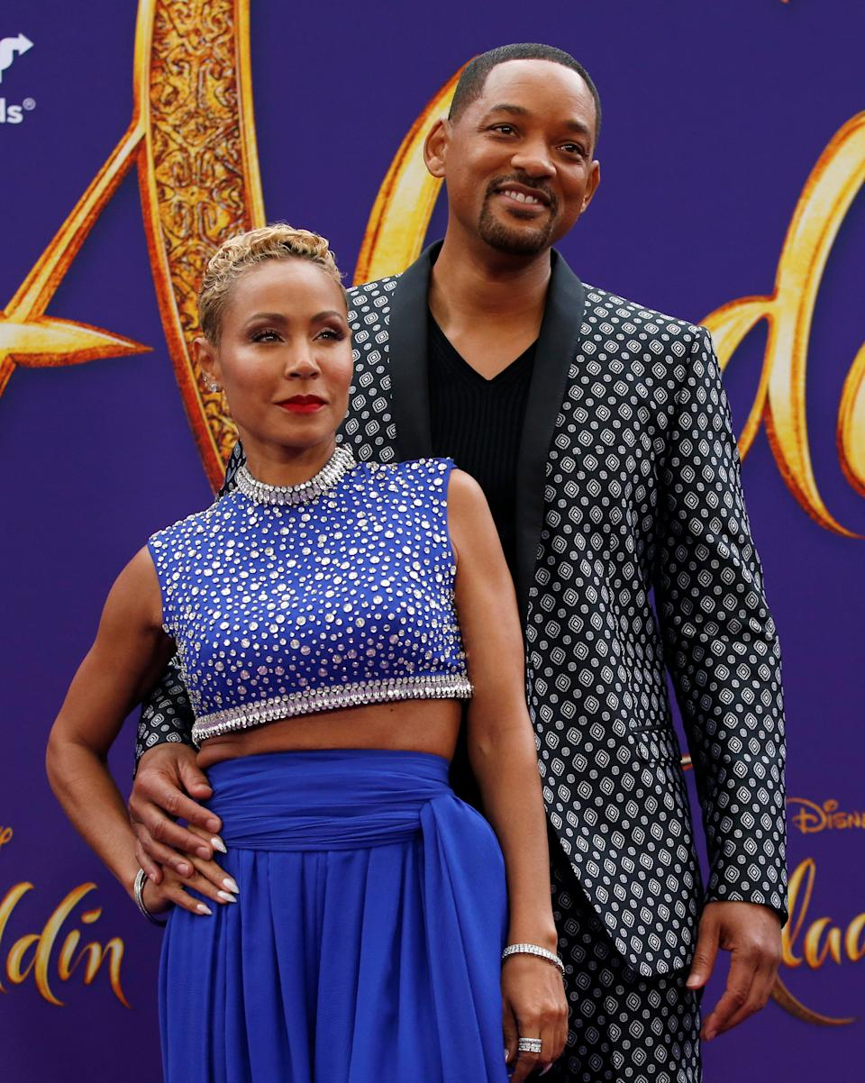 "Jada Pinkett Smith and Will Smith attend the premiere of ""Aladdin"" on May 21 at El Capitan Theatre in Los Angeles. (Photo: REUTERS/Mario Anzuoni)"