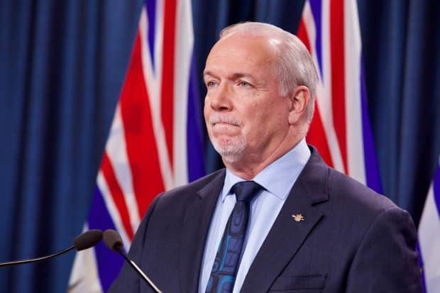 B.C. Premier John Horgan, chair of the Council of the Federation, says the provinces and territories want a partner in the federal government when it comes to health care funding. (Mike McArthur/CBC - image credit)