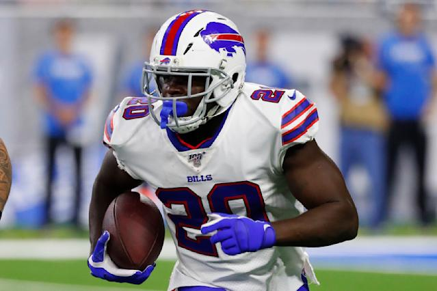 Frank Gore will carry the load for the Bills with rookie Devin Singletary out. (AP Photo/Rick Osentoski)