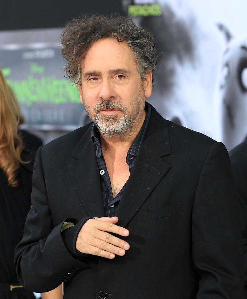 """HOLLYWOOD, CA - SEPTEMBER 24:  Director/producer Tim Burton attends the Premiere Of Disney's """"Frankenweenie"""" at the El Capitan Theatre on September 24, 2012 in Hollywood, California.  (Photo by Frederick M. Brown/Getty Images)"""