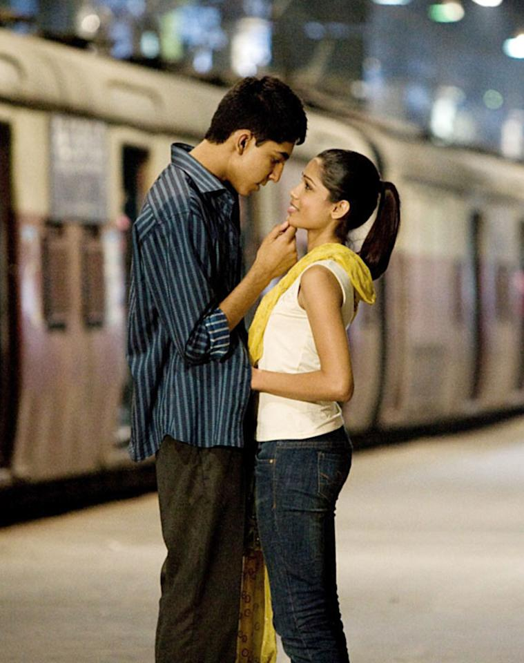 "Dev Patel and Freida Pinto are yet another example of young Hollywood stars who turned an on-screen pairing into an off-screen affair. And after watching their characters Jamal and Latika survive years of separation and edge-of-your-seat adventures in ""Slumdog Millionaire,"" we're definitely rooting for them. Fox Searchlight/courtesy Everett Collection"