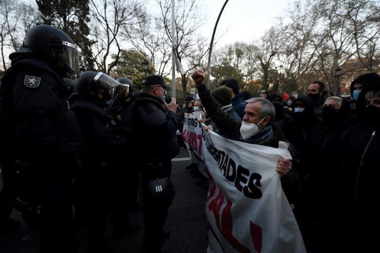The march in Madrid on Saturday passed off peacefully before the crowds dispersed at the request of the police