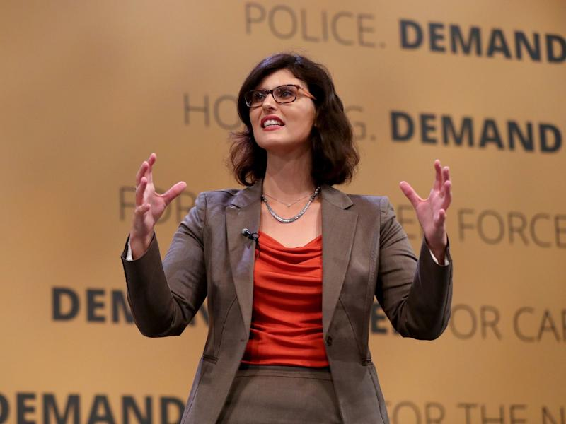 Layla Moran, Liberal Democrats education spokesperson, delivers a speech at the party's Autumn Conference in Brighton: PA