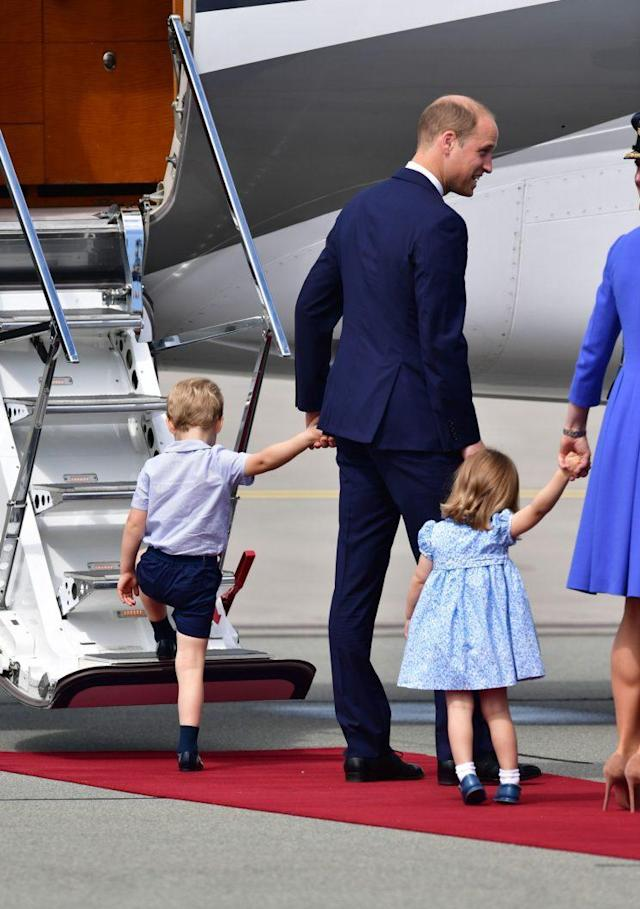 Prince George seemed eager to get away [Photo: PA]